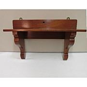 SALE Mahogany Antique Wall Shelf
