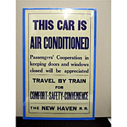 SALE 1935 New Haven Railroad Poster