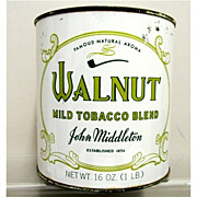SALE Walnut Tobacco Tin One Pound  Unopened 50% OFF