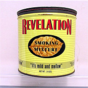 SALE Revelation Advertising Tobacco Tin