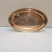SALE International Silver Company Engraved Oval Tray