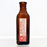 SALE Amber Glass Poison Bottle