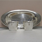 SALE American Cream and Sugar Service on Tray Rogers Silver Plate