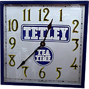 SALE Tetley Tea Advertising Wall Clock