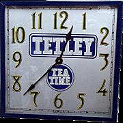 SALE Tetley Tea Advertising Wall Clock