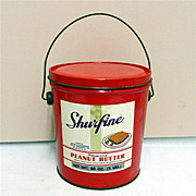 SALE Advertising Tin Shur Fine Peanut Butter 50% OFF
