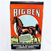 SALE Big Ben Advertising Tobacco Pack Un-Opened