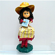 SALE Papier Mache Enesco Doll