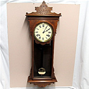 SALE E. N. Welch Antique American Wall Clock Fully Restored And Completely Original
