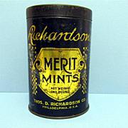 SALE Richardson Merit  Mints Candy Tin