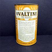 SALE Ovaltine Food Beverage 14 oz Advertising Tin