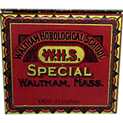 SALE Waltham Horological School Tin with Unused Watch  Springs