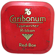 SALE Caribonum Typewriter Ribbon Tin