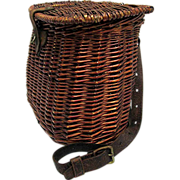 SALE Hand Woven Fishing Creel with Shoulder Strap 50% OFF