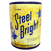 SALE Steel Bright Sample Size Cleanser Advertising Tin