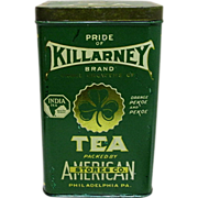 SALE Killarney Brand Tea Advertising Tin American Stores Co.