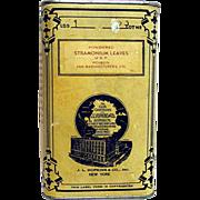 SOLD Advertising Drugstore Pharmacy Tin By  J L Hopkins Stramonium Leaves