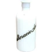 SALE Boracic Acid Apothecary Bottle