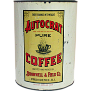 SOLD Autocrat Coffee and RICE Advertising Tin