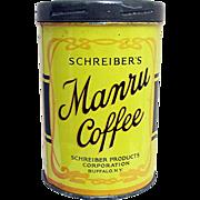 REDUCED Manru Advertising Coffee Tin