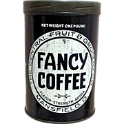 SALE Fancy Coffee Advertising Tin