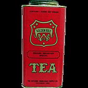 SALE Golden Rule Advertising Tea Tin