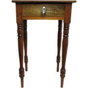 SALE Mahogany Single Drawer Table  American Circa 1860