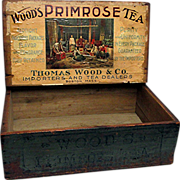 SOLD Advertising Box WOODS Primrose Tea
