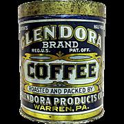 SOLD Advertising Glendora Coffee Tin MINT