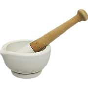 SOLD Mortar and Pestle Stoneware from Drugstore or Pharmacy