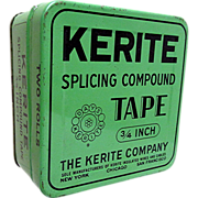 SALE Kerite Splicing Tape Advertising Tin