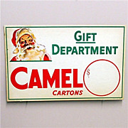 SALE Christmas Store Display Advertising Sign For Camel Cigarettes MINT