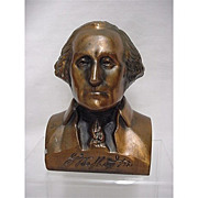 REDUCED Bank George Washington Bust  Cast Metal