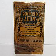 REDUCED Pharmacy Advertising Item Alum Powder