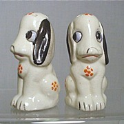 SALE Salt and Pepper Shakers Matching Dogs