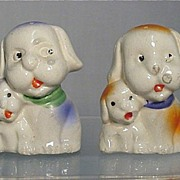 SALE Salt and Pepper Set Dog with Pup Shakers