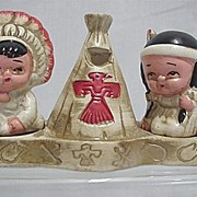REDUCED American Indian Salt and Pepper Shakers