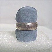 SALE Sterling Silver  Band  Ring Size 7 with Engraving REDUCED