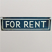 SALE FOR RENT Antique Tin Sign 50% Off