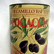 SALE Italian Flatbread Advertising Tin from Di Camillo Bakery  Niagara Falls NY