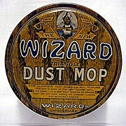 SALE Wizard Dust Mop Tin Container