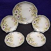 REDUCED Cake Set Nippon Porcelain Service for 4