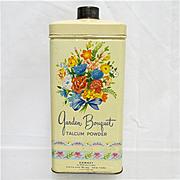 SALE Advertising Garden Bouquet Talcum Powder Talc Tin