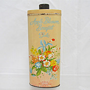 SALE Advertising Talc Tin Apple Blossom Bouquet
