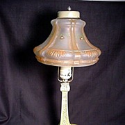 SALE Antique Boudoir, Desk or Table Lamp with Hand painted Shade