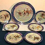 SALE Noritake Cake Set Luster 7 Piece Set
