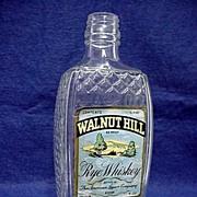 SALE Glass Bottle with Raised Diamond Pattern