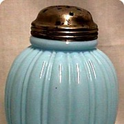 REDUCED Sugar Shaker American Antique Glass 1895