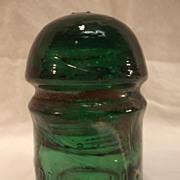 SALE Brookfield, New York, Green Dome Insulator - 'PONY'