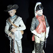 SALE Revolutionary War Colonial Soldier Bisque figurines
